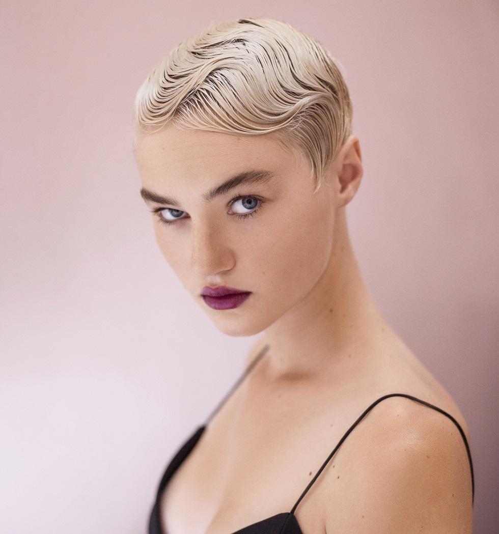 lainekampaus lyhyet hiukset