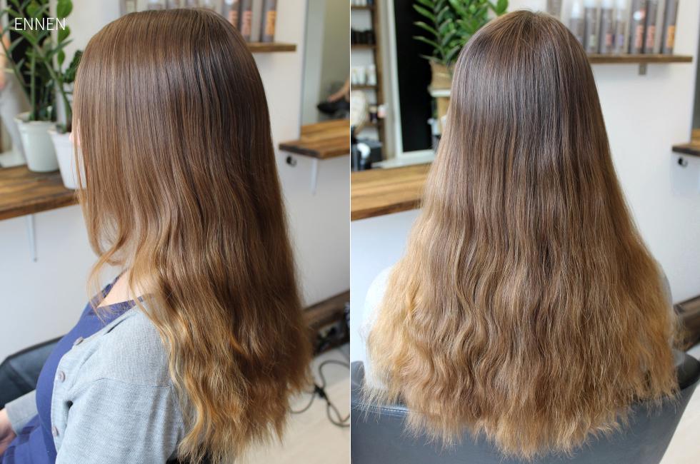 raitoja hiuksiin